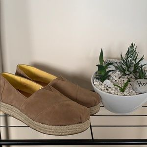 Shoes - TOMS  brown espadrilles size 10.    NWT!